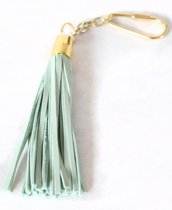 LEATHER TASSEL KEYCHAIN (MINT)
