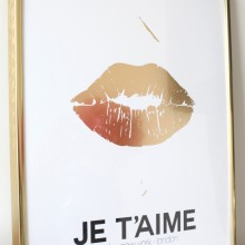 Je T'aime Gold Lips