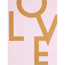 LOVE (Dark Gold+Pink)
