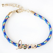 Love Rope Bracelet (blue)