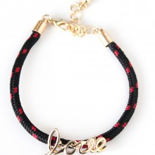 Love Rope Bracelet (black)