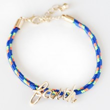 Faith Rope Bracelet (blue)