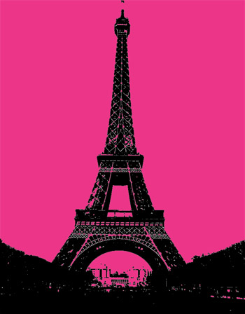 Eiffel Tower Hot Pink