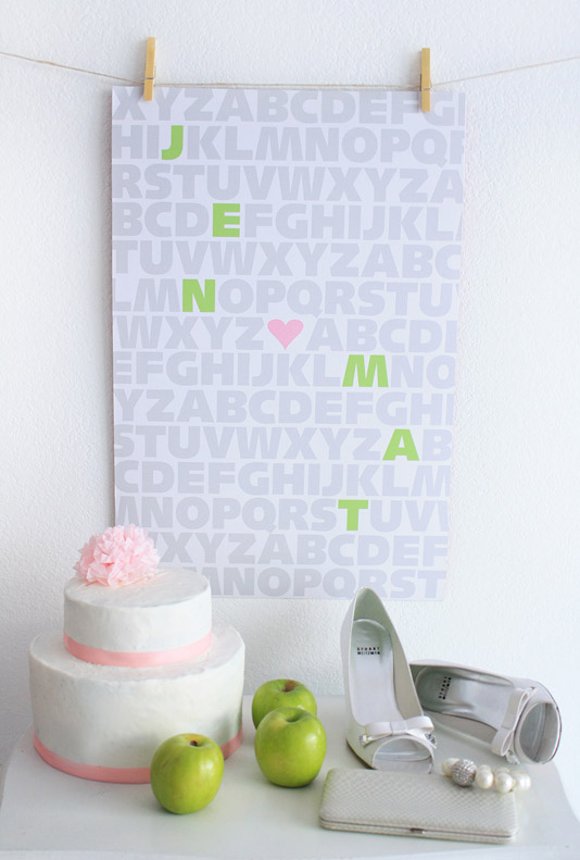 GREEN APPLE WEDDING PRINT