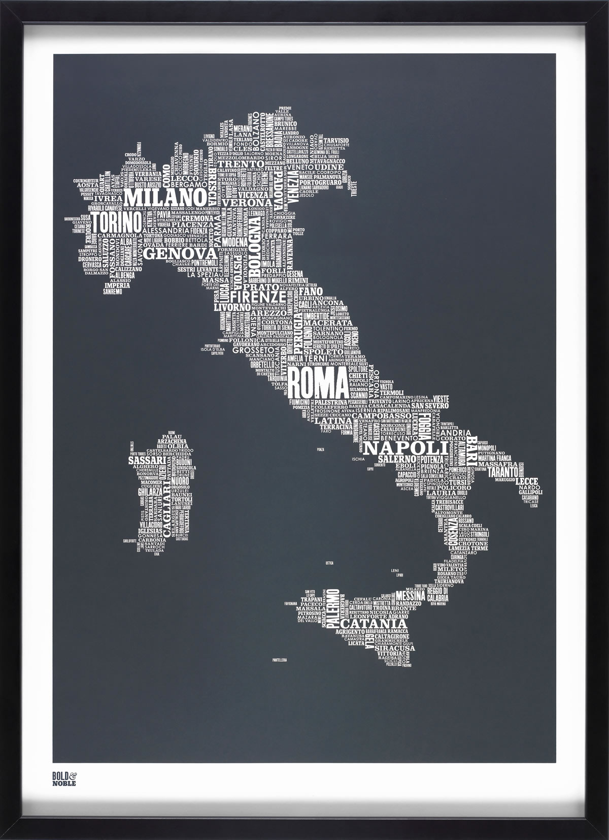 ITALY TYPE MAP (SHEER SLATE)