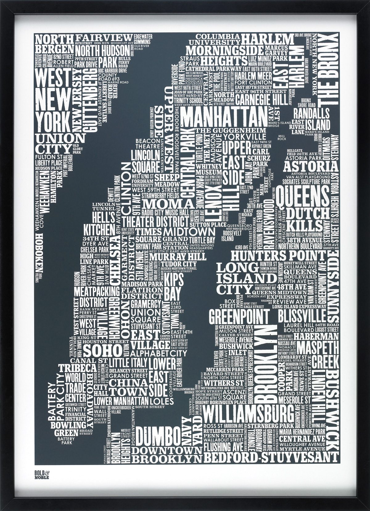 NYC TYPE MAP (SHEER SLATE)
