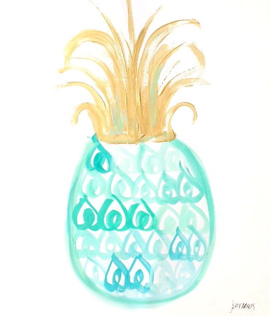 TURQUOISE OMBRE PINEAPPLE